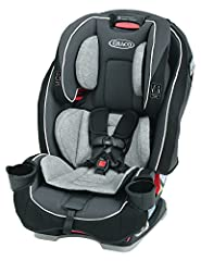 All in One seat grows with Your child from 5 100 pound, rear  to forward facing and becomes a belt positioning booster; save space in Your back seat with Unique rotating cup Holders; metal and plastic parts may be cleaned with mild soap and Cool Wate...
