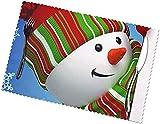 Tcerlcir Manteles Individuales, fáciles de Limpiar, Resistentes al Calor, Resistentes a Las Manchas Manteles Individuales de Material de poliéster Juego de muñeco de Nieve de 6 Sonrisas, 30 x 45 cm