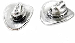 Sterling Silver Cowboy Cowgirl Hat Post Stud Earrings