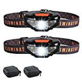 2 LED Headlamps Flashlights with Portable Cases,COSOOS Bright Running Headlamp,Waterproof Head Lamps,Small Headlights