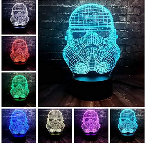 3D LED lumière de nuit Nouvelle Acrylique Star Wars Thème Cool Tempête Storm Knight Mode 7 Couleur USB Charge Table De Chevet Décoration Cadeau De Vacances f