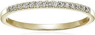 1/8 cttw Petite Diamond Wedding Band in 10K White Gold Prong Set
