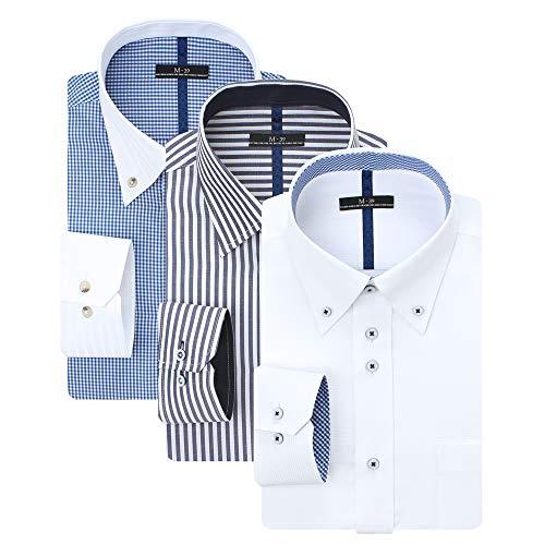 (アトリエ 365) 長袖 ワイシャツ イージーケア 形態安定 Yシャツ カッターシャツ ビジネス/sun-ml-sbu-1109-3s-at-4L-47-86-Gset-20a