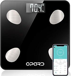 Báscula de Baño Digital de Alta Medición Precisa, Balanza Digital Baño con Bluetooth por iOS y Android APP, Báscula Electrónica de Alta Medición Precisa con Análisis Corporal de11 Funciones