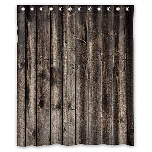N\A Duschvorhang Dunkelbraun Alte Scheune Holz Kunst, Wasserdicht Dekorativ Rustikal Badezimmer Vorhang Dekor, Duschvorhang.