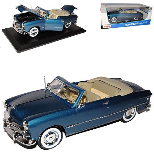 Maisto Ford 1949 Cabrio Blau 1/18 Modellauto Modell Auto