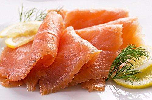edelster norwegischer Räucherlachs, mild gesalzen und geräuchert