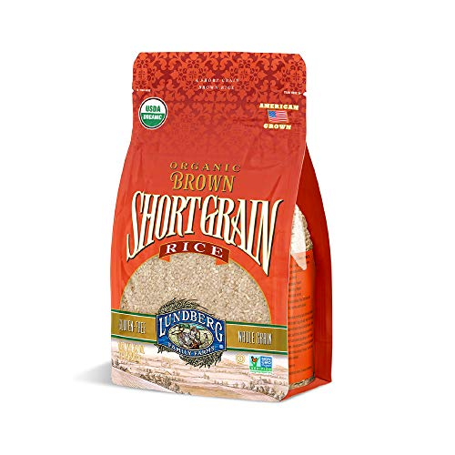 Lundberg Organic Short Grain Brown Rice 2lb 6 count GlutenFree NonGMO Project Verified USDA Certified Organic Vegan Kosher 100% Whole Grain