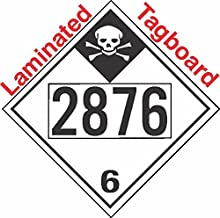 GC Labels-T335c2876, Inhalation Hazard Class 6.1 UN2876 Tagboard DOT Placard, Package of 50 Placards