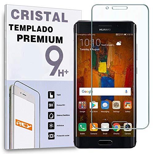 REY Protector de Pantalla Curvo para Huawei Mate 9 Pro, Transparente, Cristal Vidrio Templado Premium, 3D / 4D / 5D