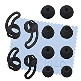 BLLQ Replacement Accessory Pack for BeatsX Urbeats Beats Tour, Soft Anti-Slip Ear Fins Ear Hooks Wingtips Earhooks 2 Pairs 2 Size & Earbuds Tips 4 Pairs 4 Size for Beats x Black,bxwb