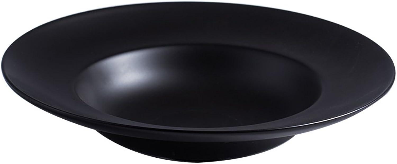 El ultimo 2018 XXLCJ Plato de Postre, Forma de de de Sombrero de cerámica Placa de Ensalada de Plato Hondo Tres Colors, vajilla doméstica Retro Europea, Plato de Aperitivo (Color   Negro, Tamaño   4)  venta de ofertas