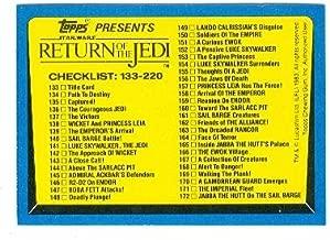 Return of the Jedi Star Wars trading card 1983 Topps #220 Checklist