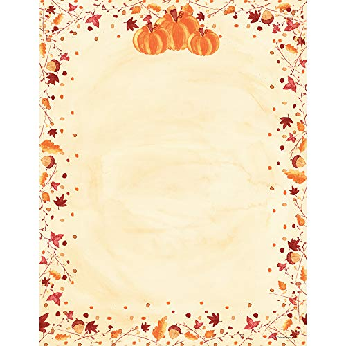 Great Papers! Painted Pumpkin Letterhead, 80 count, 11' x 8.5' (2015086)