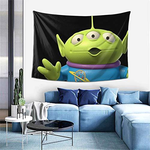 Toy Story Tapiz para ventana, decoración del hogar, cortina para dormitorio, collage, oficina, 60 x 40 pulgadas