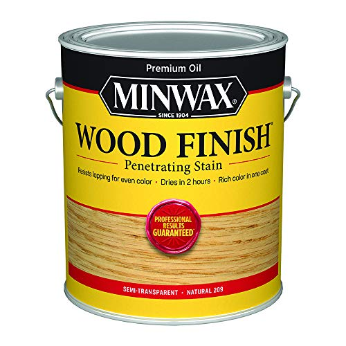 Minwax 71000000 Wood Finish Penetrating Stain, gallon, Natural