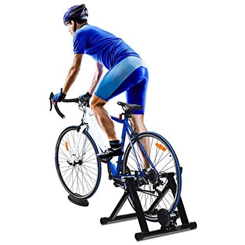 Costway Entraîneur de Vélo Magnétique avec Fil 8 Vitesses Réglables pour...