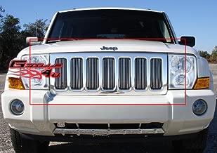 APS Compatible with 2006-2010 Jeep Commander Vertical Main Upper Billet Grille Insert J65499V