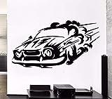 Autocollant mural de sports motorisés 78X42CM,décalcomanie amovible,support mural imperméable,déco pour la...
