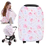 Carseat Canopy Cover - Baby Car Seat Canopy KeaBabies - All-in-1 Nursing Breastfeeding Covers Up - Baby Car Seat Canopies for Boys, Girls - Stroller Covers - Shopping Cart Cover (Dainty Bloom)
