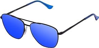 Hawkers Men's Hawkers x Steve Aoki- NEON LAX BLUE SKY HNLAX01 Rectangular Sunglasses, Blue, 12 mm
