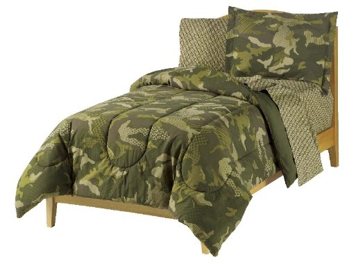 dream FACTORY Boys Army Green Desert Camo Comforter Set