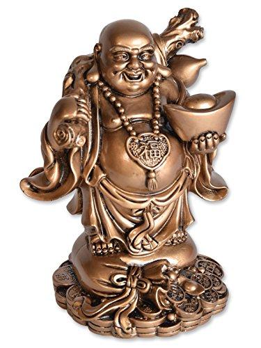 BUDDHA FIGUR MIT SCHALE, GLÜCKSBRINGER, GLÜCKSFIGUR, HAPPY BUDDHA, SCHUTZ, WEISHEIT, HARMONIE, LIEBE, GESUNDHEIT, WOHLSTAND
