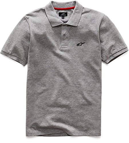 Alpinestars 1036-42008 Polo Manches Courtes Homme, Grey Heather, FR : M (Taille Fabricant : M)