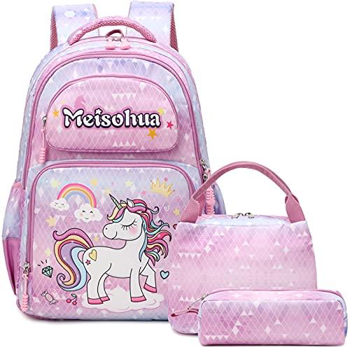 Mochila Unicornio  niña   Escolar Impermeable   Infantil Bolso  para  Chicas  para