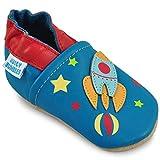 Juicy Bumbles Chaussures Bébé - Chaussons Bébé Cuir Souple - Fusée 2-3 Ans