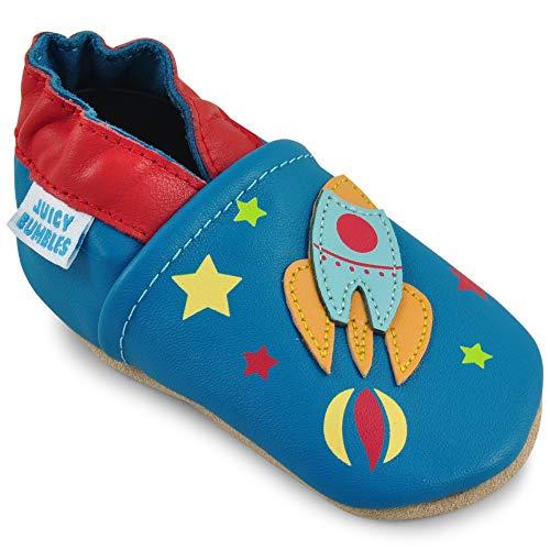 Scarpe Bambino - Scarpe Neonato in Morbida Pelle - Scarpine Neonato Primi Passi - Astronave - 18-24 Mesi