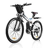 Vivi Vélo électrique Vélo de Montagne électrique pour Adulte, vélo électrique Pliant de 26 ``, Moteur 250W avec Batterie au Lithium-ION 36V 8Ah, engrenage 21 Vitesses à Suspension complète Premium