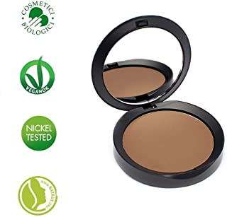 PuroBIO Certified Organic RESPLENDENT Intense and Long-Lasting Bronzer and Contouring Powder 05 WARM BROWN. Made with Avocado, Apricot Oils, Shea Butter, Vitamin E.ORGANIC. VEGAN. NICKEL TESTED. MADE IN ITALY