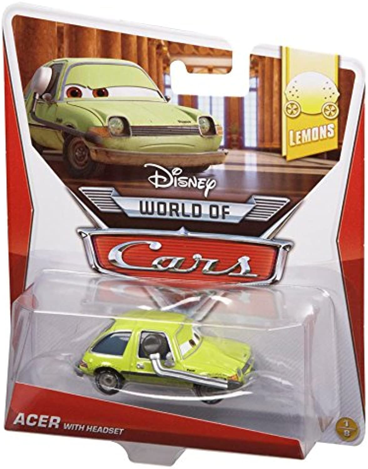 Disney Pixar Cars Acer with Headset Diecast Vehicle