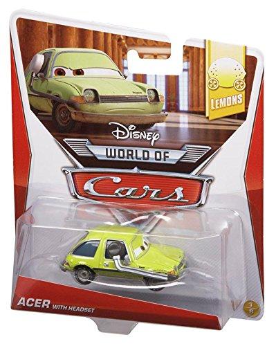 Disney World of Cars 2014 - Figurine vehicule voiture miniature - Asst. Y0471 - LEMONS - 1/8 - ACER avec casque BDX07