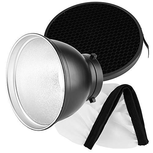 Reflektorabdeckung, 7-Zoll-Standardreflektor für die Bowens-Montage mit und weiche Diffusorabdeckung, Studio-Reflektorzubehör
