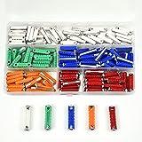 BIGP 200 piezas de fusibles de torpedo, multicolores, surtido de fusibles para coche, Amp 5A, 8A, 10A, 16A, 25A, para coches europeos antiguos