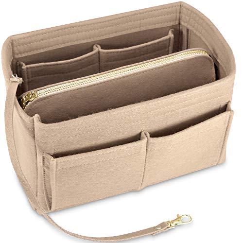Purse Organizer Insert, KIPBELIF Felt Handbag Organizer with Zipper Pouch, Key Chain for Tote Bag Organizer, Speedy Neverfull