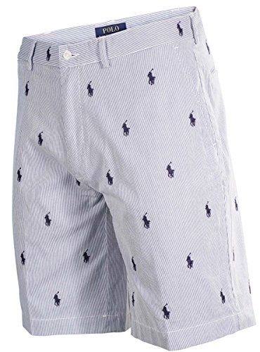 Ralph Lauren Polo Mens All Over Pony Prospect Shorts Blue/White (30)