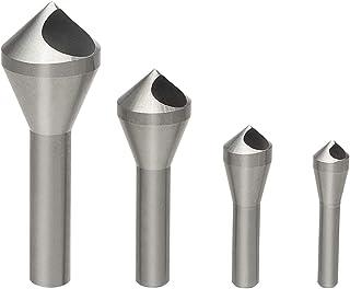 High Speed Steel Chatterless Countersinks 6 Flute Individual Sizes 1//2 Dia 1//4 Shank 82 Deg.