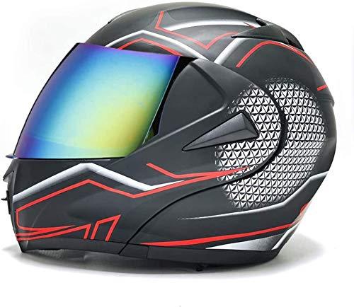 JIBO Casco integral para motocicleta Cross-country, ligero