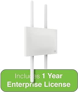 Cisco Meraki Dual-Band 4-Radio 2x2 MIMO 802.11ac Wave 2 Outdoor Access Point w/1 Year Enterprise License, 4 Dual-band Omni Ant.
