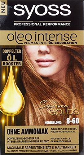 Syoss Oleo Intense Permanente Öl-Coloration 8-60 Honigblond Stufe 3, 115 ml