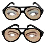 ウケ狙い変装メガネ おもろい顔めがね仮装アイテム パーティーやハロウィン用思わず笑えるジョークグッツ