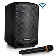 COMPACT AND POWERFUL: This Compact and High Powered 600 Watt Karaoke PA Sound System by Pyle is equipped with 65 inch Subwoofer and 3 inch Treble Speaker for Full Range Stereo Sound Reproduction Perfect for patio party, crowd control WIRELESS AUDIO S...