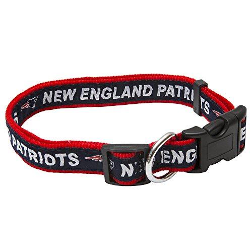 Pets First NFL DOG COLLAR New England Patriots Pet Collar, Medium