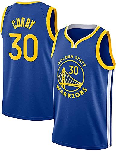Movement Camisetas De Baloncesto De Malla De Malla Sin Mangas Curry Golden State Warriors # 30 Swingman Jersey(Size:S/,Color:G2)