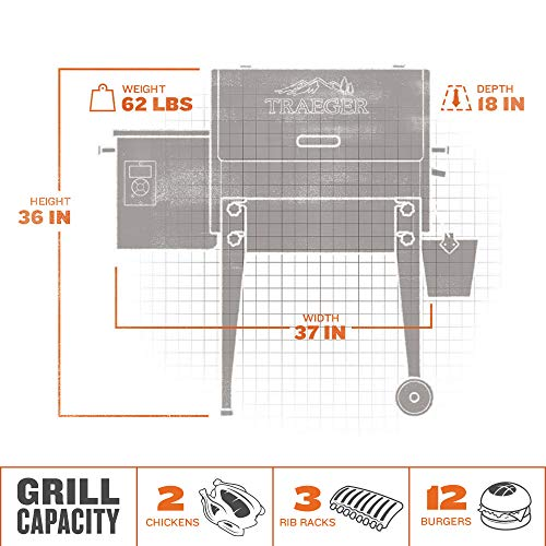 Traeger Grills Tailgater 20 Portable Wood Pellet Grill and Smoker, Black