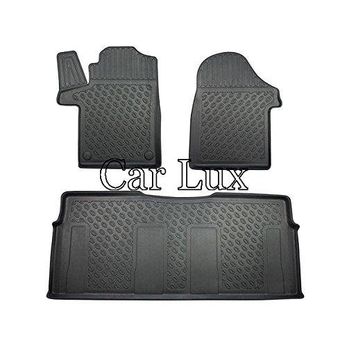 Car Lux AR04644 - Alfombras Alfombrillas de Goma Exclusiv Tipo cubeta 3D para Vito W447 Extra Largo Desde 2014-