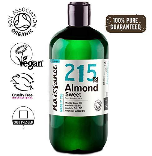 Naissance Aceite de Almendras Dulces BIO n. º 215-500ml - Puro, natural,...